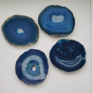 Other - Blue Agate Crystal Coasters